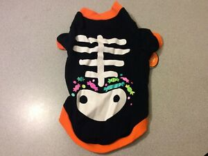 Horizon Group Halloween Costume Pet Dog Cat Skeleton T-Shirt, Size Medium, 1 Pc