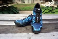 Salomon Men's Speedcross 4 CS Trail Runner, Blue Depth/Bright Blue/Black, 10 D