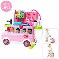 Baby Doctor Playsets Bus Educational Pretend Doctors Role Medical Bus Gift Xmas