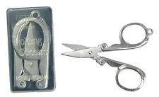 "Folding Scissors with Keyring 3"" Holder Carbon Steel Chrome Finish Survival Kit"