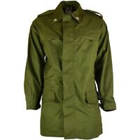 Original Italian army olive green parka military jacket BDU surplus issue coat