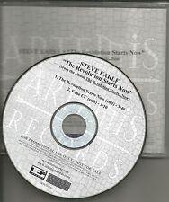 STEVE EARLE Revolution Starts Now w/RARE EDITS 2004 USA PROMO Radio DJ CD Single