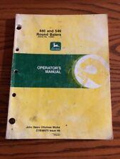 Original John Deere 446,546 Round Hay Baler Operators Owners Manual OME86575
