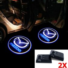 2Pcs Mazda Car Door Welcome LED Lights Courtesy Projector Ghost Shadow Sticker