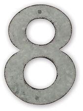 "4"" NUMBERS  METAL GALVANIZED 0-9 D I Y PERSONALIZE DYI Clocks, Adress, Wedding"