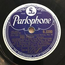 78rpm Graeme Bell - High Society / Black And White Rag Parlophone R3390 shellac