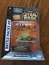 Star Wars Galoob Micro Machines Battle Pack Jabba w/ 6 figures, #8, MIB.