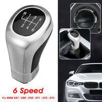 For BMW 1 3 Series E81 E82 E87 E88 E90 E91 E92 PU 6 Speed Gear Shifter Knob