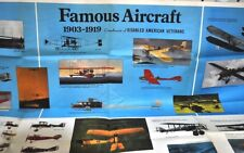 Vintage Poster of 1903-1919 Famous Military Aircraft and 1920 -1979 Aircraft