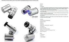 microscope LED Bijoux loupe UV détecteur de devises loup portatif loupe X60