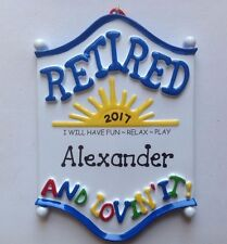 Retirement Personalized Christmas Ornament- Retired Coach, Officer, Friend, Dad
