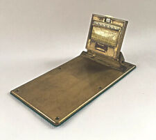 Antique Fiske's Bros Lubricants Perpetual Calendar Brass Clipboard Mergott  Oil
