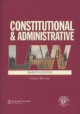 Constitutional and Administrative Law by Hilaire Barnett (2008, Paperback,...