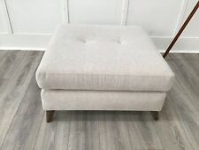 Footstool In Natural Fabric (Holly)