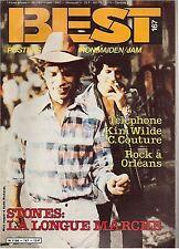 Magazine Best n° 167 sans poster kim wilde telephone rolling stones charlelie
