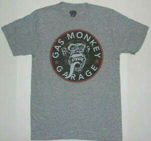 Gas Monkey Garage Gray Graphic Tee Shirt New
