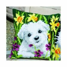 Westie in Daffodils Vervaco Chunky Cross Stitch Cushion Kit - PN0147569