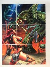 RED SONJA (Breygent/2012) Complete ROBERT E. HOWARD PUZZLE Chase Card Set (9)