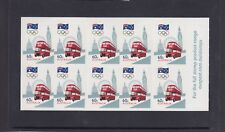 AUSTRALIA 2012 ROAD to LONDON Olympic Games - Bus - $6 BOOKLET P&S MNH -