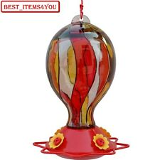 Hummingbird Feeder Bee Guard Colorful Durable Glass Hanging Bird Water Storage