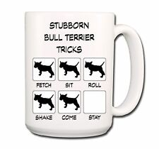 Bull Terrier Stubborn Tricks Extra Large 15oz Coffee Mug