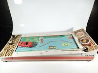 Eldon 1969 STEER'N SCORE Battery Operated Arcade Game Slot Car Made in Japan