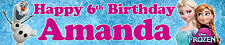 "2 x 40"" FROZEN PERSONALISED BIRTHDAY BANNER OPT2"