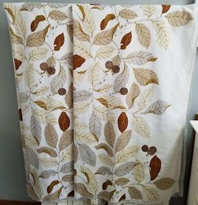 Ikea Stockholm Blad Curtain Drapery Panels Natural Leaves pattern, (1 pair)