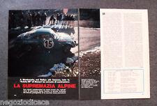 BD72 - Clipping-Ritaglio -1973- AUTONOTIZIE RALLY MONTECARLO , SUPREMAZIA ALPINE