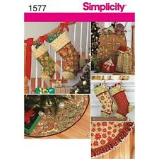 SIMPLICITY SEWING PATTERN CHRISTMAS DECORATIONS STOCKING GIFT BAG 1577 A