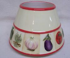Home Interiors Vegetable Theme Candle Shade #11471 New In Original Box
