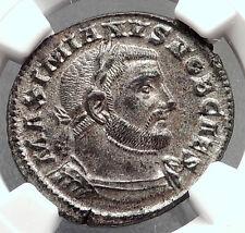 GALERIUS 303AD Trier Follis Authentic Ancient Roman Coin Genius NGC MS i62956