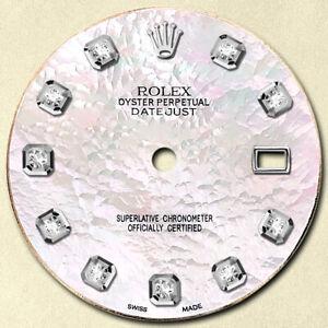 CUSTOM-ROLEX DATEJUST-36MM SS WHITE MOP DIAMOND DIAL