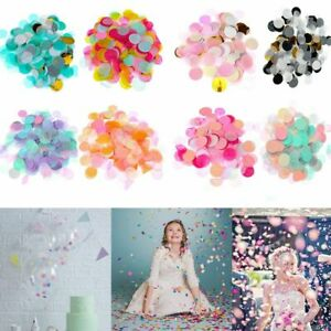 Colors Birthday Round Party Decorations Filling Balloons Confetti Tissue Paper