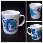 Vintage NEW BRUNSWICK Coffee Mug Canada Canadian Cup Lighthouse Map Fish Blue