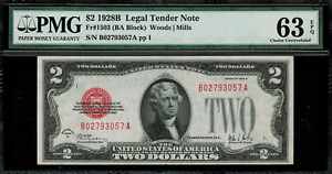 1928B $2 Legal Tender FR-1503 - Graded PMG 63 EPQ - Choice Uncirculated
