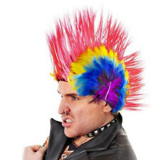 Child Adult Mohawk Wig Mohican Punk Rock Fancy Dress Party Costume Sid Vicious