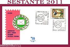 ITALIA FDC ROMA B - 185 CONGRESSO  VETERANI FILATELIA 1972 ANNULLO RICCIONE A79