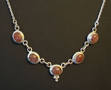 Sun-stone Sterling Silver Necklace hand made in the Himalayas