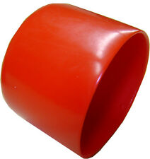 "Lot of 2 Red Plastic Caps  - Fits 2"" OD Tubing - Flexible End Cap 2.00"""