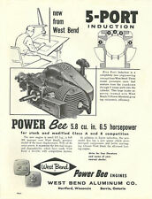 Vintage neat 1961 West Bend Power Bee Go-Kart Engine Ad