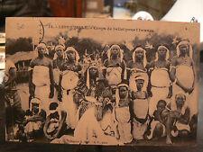 cpa afrique gabon libreville corps de ballet pour l' iwanga danseurs metier