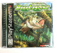 Bass Landing (Sony PlayStation 1, 1999) PS1 CIB Complete Black Label Rare Tested