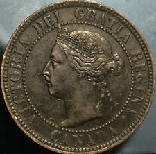 1896 CANADA LARGE 1 CENT PENNY - FAntastic grade but also some issue