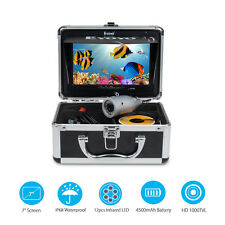 "Eyoyo 7"" 50M Underwater Fishing Camera 1000TVL Fish Finder + Sunvisor + 4500mAh"