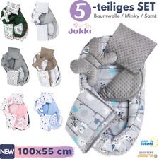 5tlg SET Baby Nestchen Kokon + Matratze 2x Kissen Decke ? Baumwolle MINKY Samt ?