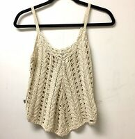 GUESS Los Angeles Crochet Top, Size XSmall, 100% Cotton Hippie Camisole