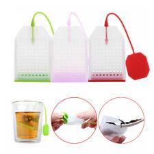 1PC Silicone Leaf Strainer Reusable Tea Bag Infuser Herbal Spice Filter Diffuser