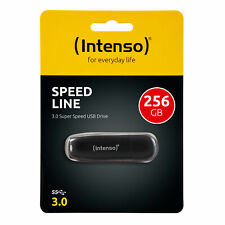 Intenso Usb Stick 256GB Speed Line Speicherstick Schwarz Micro 256 GB Mini Flash