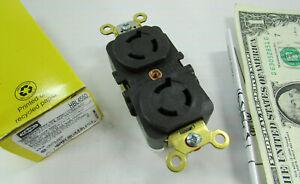 New Hubbell Twist-Lock Duplex Receptacles 15A 250V 2-Pole 3-Wire L6-15R HBL4550